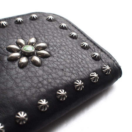 【予約受付】HTC SUNSET L-zip Wallet Flower Lamb Leather #1 TQS N / Black