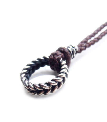 CHAFF DESIGN〔チャフ・デザイン〕Twist Ring Woven Necklace