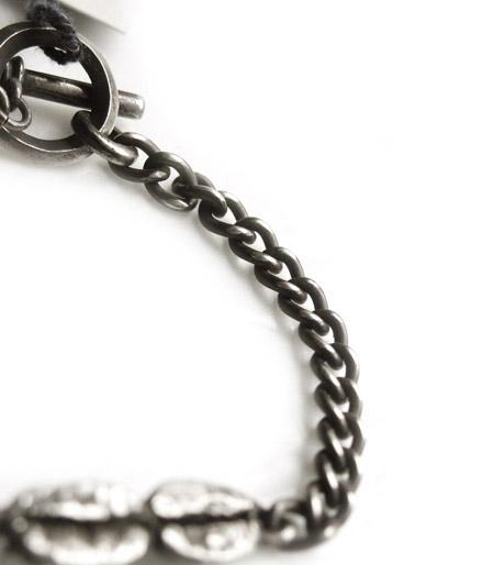 CHAFF DESIGN〔チャフ・デザイン〕Coffee Beans Silver Chain Bracelet
