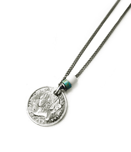 CHAFF DESIGN〔チャフ・デザイン〕Coin&Turquoise Necklace�