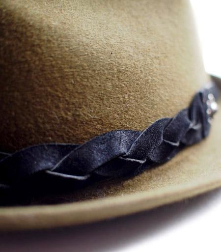CHAFF DESIGN〔チャフ・デザイン〕 Vintage Remake Custom Wool Felt Hat / Olive
