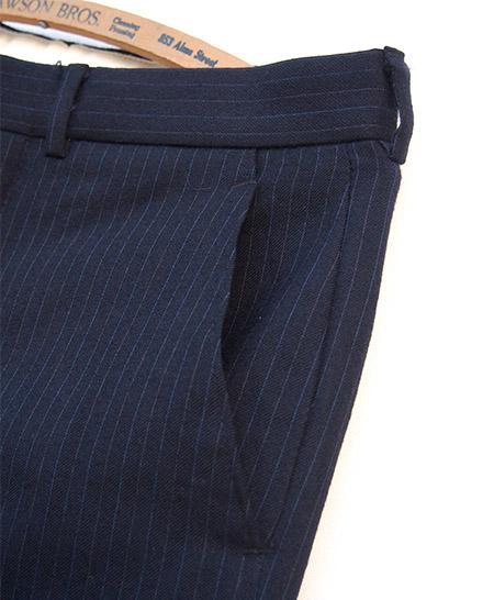 PANTY Original Vintage Remake Tapered Slacks / Navy Stripe