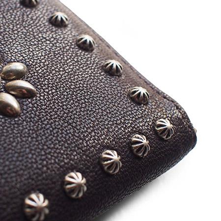 【予約受付】HTC L-zip Wallet Flower Lamb Leather #1 TQS N / D Brown
