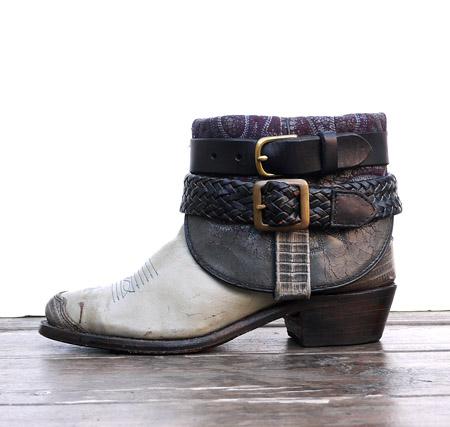 IrregulaR by ZIP STEVENSON 〔イレギュラー〕 Vintage Remake Western Boots Grey / 7(Ladies)