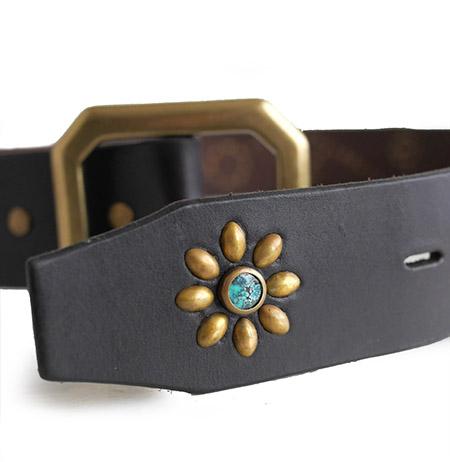 HTC Belt Flower #1 TQS B / Dk Brown