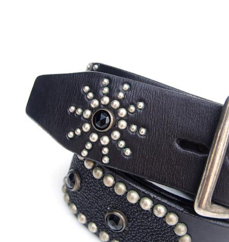 HTC 〔エイチティーシー〕 ベルト Oval Studs Stingray Belt / Black