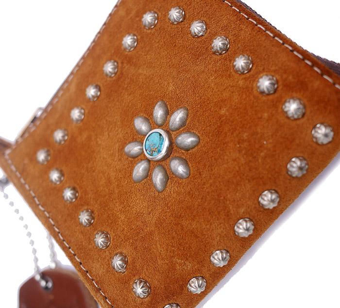 HTC L-zip Wallet Flower Suede #1 TQS N / Camel