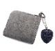 HTC L-zip Wallet Flower Suede #1 TQS N / Gray
