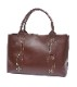 HTC SUNSET Tote Bag Flower Leather #1 TQS B / Brown