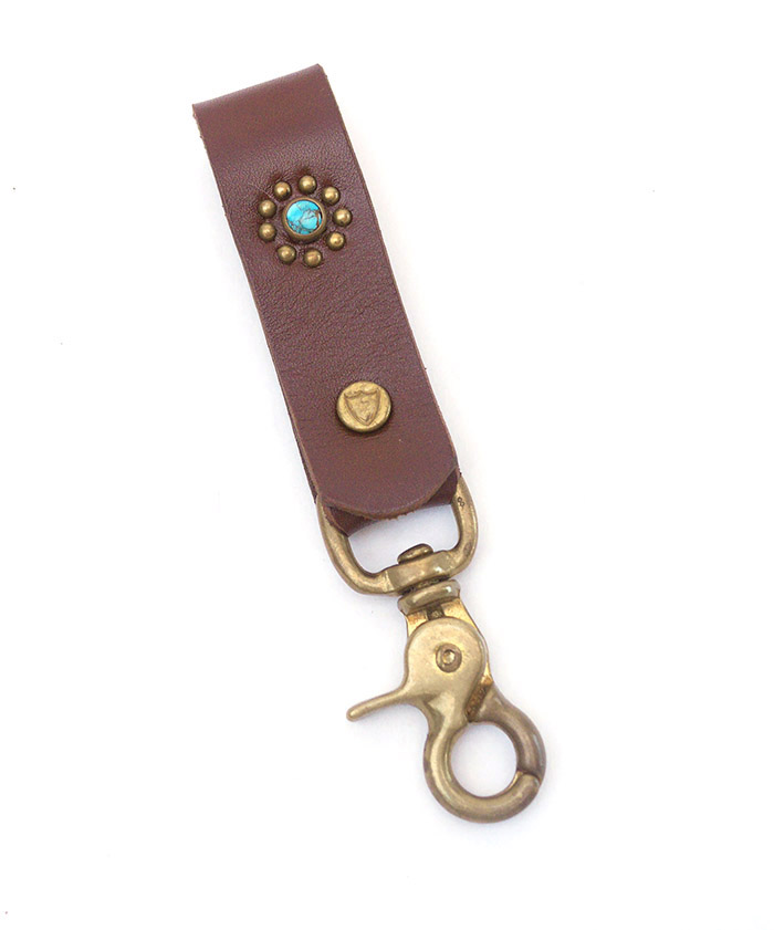 HTC SUNSET Key Holder Snap Flower #1 TQS B / Brown