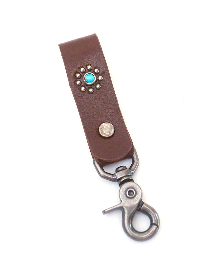 HTC SUNSET Key Holder Snap Flower #1 TQS N / Brown