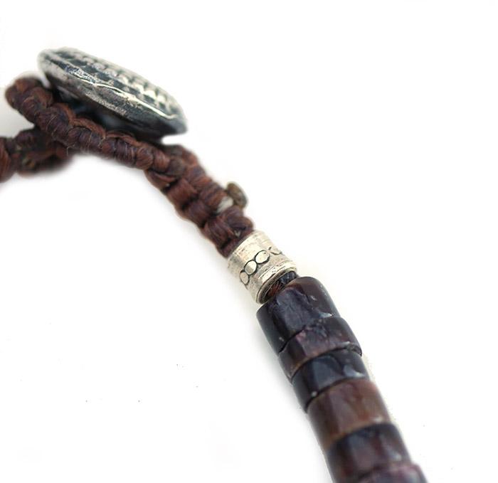 CHAFF DESIGN〔チャフ・デザイン〕Brown Shell Turquoise Bracelet
