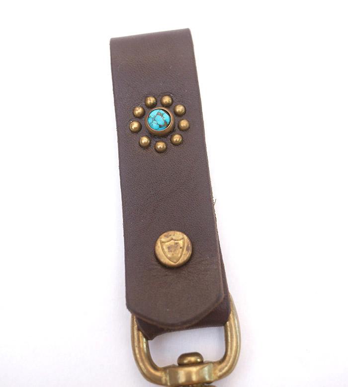 HTC SUNSET Key Holder Snap Flower #1 TQS B / D Brown