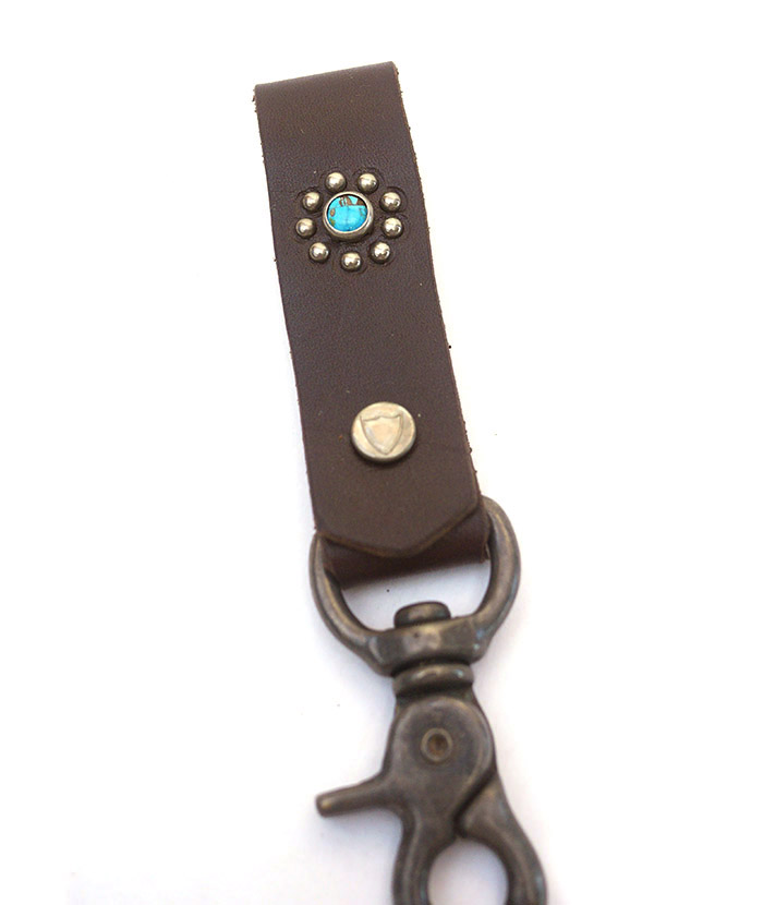 HTC SUNSET Key Holder Snap Flower #1 TQS N / D Brown