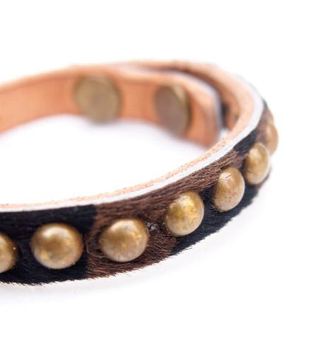 ■70% OFF■HTC Bracelet slunk Skin Round Studs #1 YEL B/ Leopard