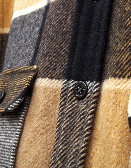 "1970s Vintage ""Fox Knapp"" CPO Wool Check Shirts"