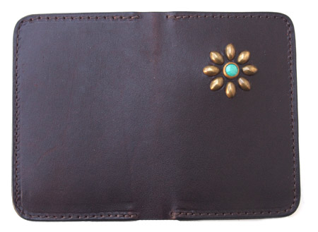 HTC SUNSET Card Case Flower TQS B / D Brown
