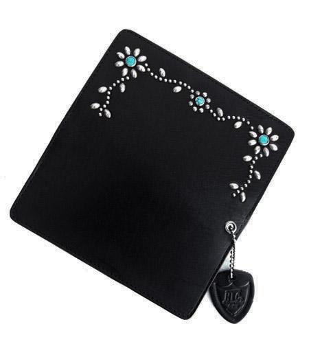 【予約受付】HTC SUNSET Long Wallet Flower Leather # 4 TQS N /  Black