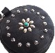HTC Round Coin case Flower #2 TQS N / Black