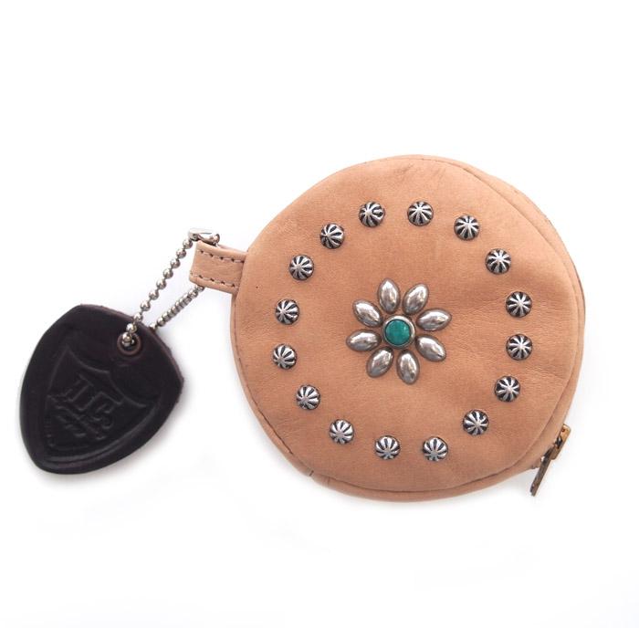 HTC Round Coin case Flower #2 TQS N / Natural