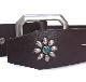HTC Belt End Only Flower Octagon Buckle # TQS N / Dk Brown