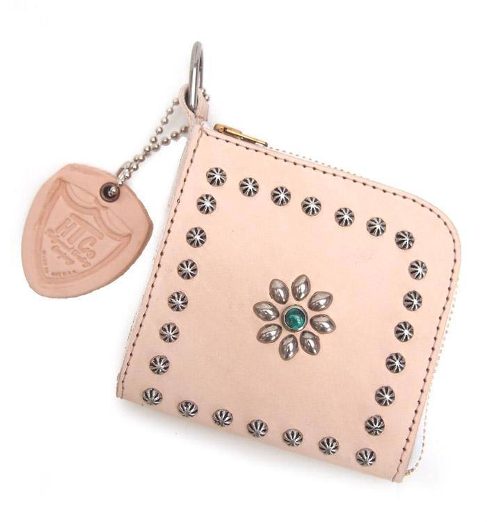 HTC SUNSET L-zip Wallet Flower Cowhide #1 TQS N / Natural
