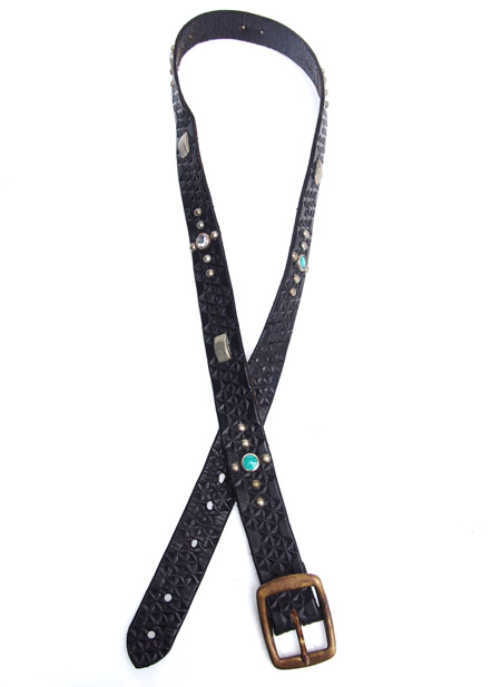 HTC 〔エイチティーシー〕 ベルト Vintage Remake Leather Studs Belt / Black�