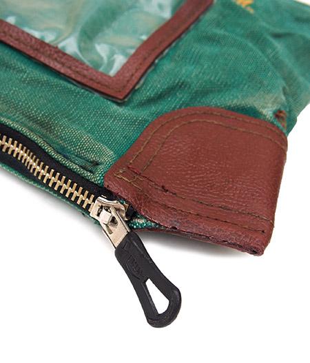 """Vintage Remake Dog Race Money Clutch Bag / Green""""149"""""""