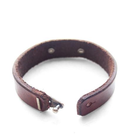 CHAFF DESIGN〔チャフ・デザイン〕Leather On Medium Wheat Bracelet