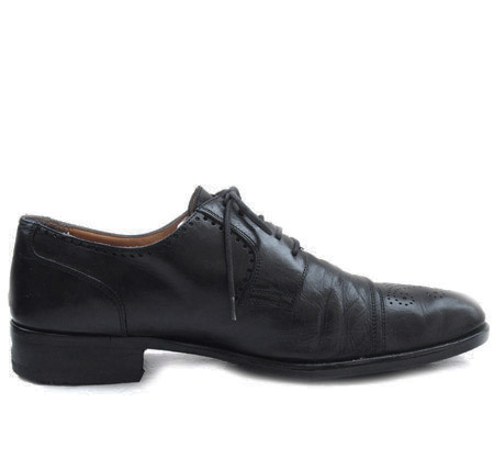 "Vintage ""VALLEVERDE"" Leather Straight Tip Shoes"