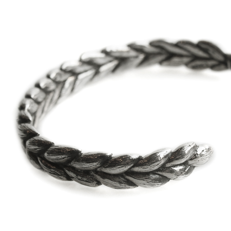 CHAFF DESIGN〔チャフ・デザイン〕Weat Silver Texture Bangle