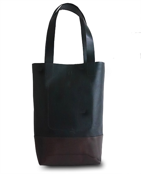 HTC Tote Bag Bi-color Leather #7 / Black&Brown