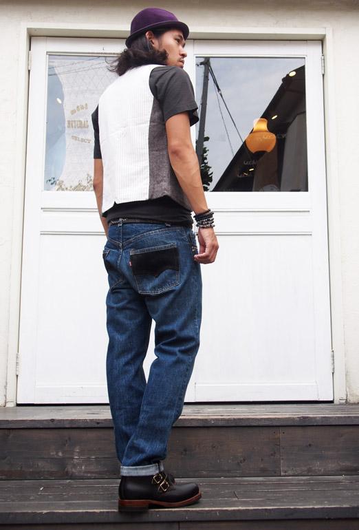 HTC DENIM DOCTORS〔エイチティーシー・デニムドクターズ〕 デニム Vintage Remake Denim Pants/Black Suede
