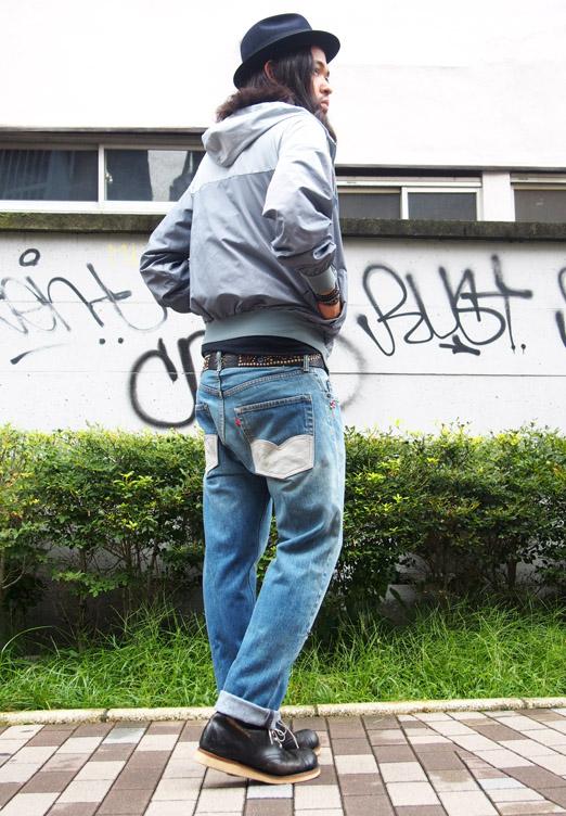 HTC DENIM DOCTORS〔エイチティーシー・デニムドクターズ〕 デニム Vintage Remake Denim Pants/Grey Suede