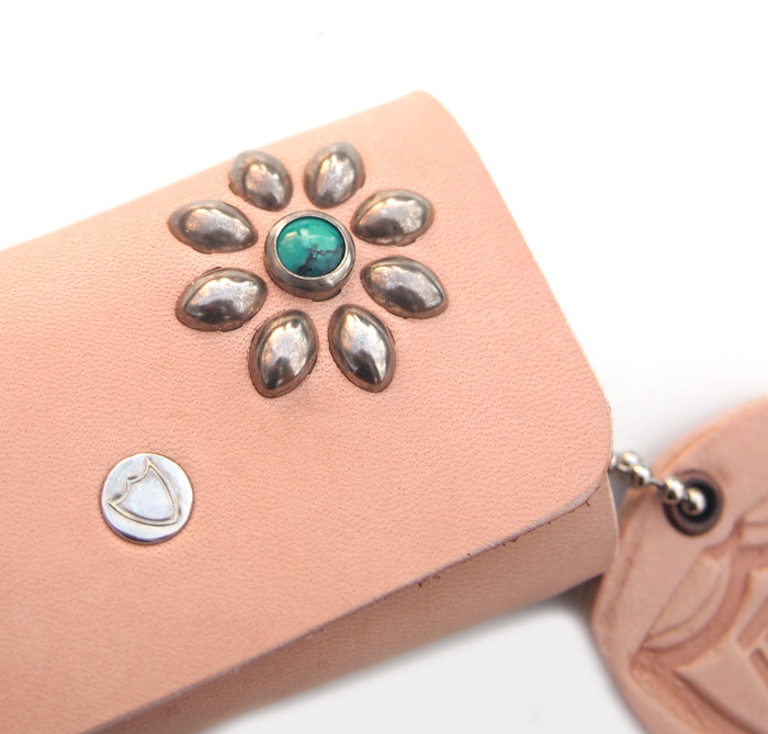 HTC SUNSET Key Case Flower Leather #1 TQS N / Natural