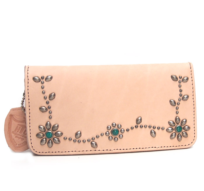 HTC SUNSET Long Wallet Flower Leather # 4 TQS N / Natural