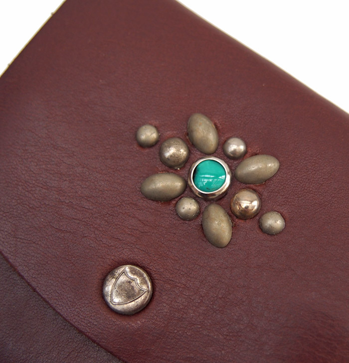 HTC SUNSET Mini Wallet Studs / Brown