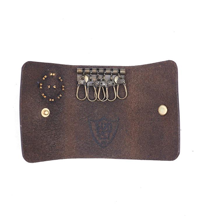 HTC SUNSET Key Case Flower Leather #1 TQS B / D Brown