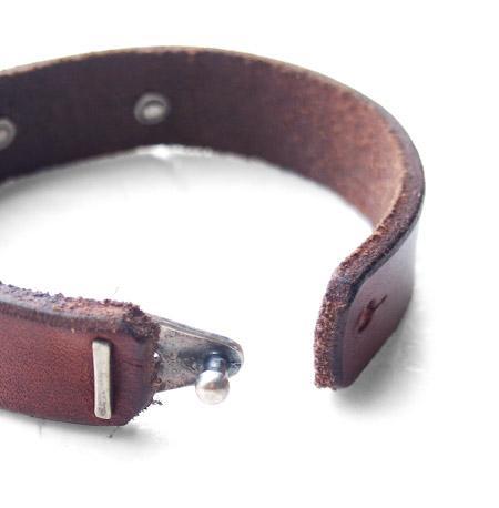 CHAFF DESIGN〔チャフ・デザイン〕Leather On Coffee Beans Bracelet