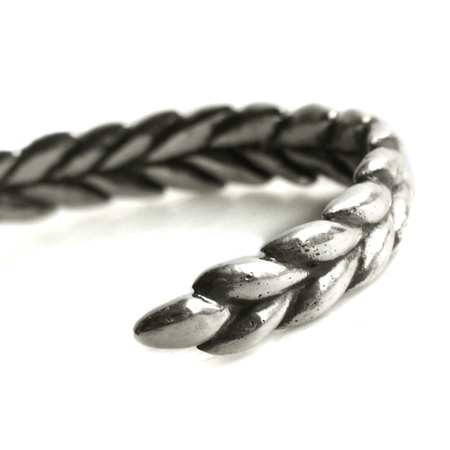 CHAFF DESIGN〔チャフ・デザイン〕Wheat Silver Solid Bangle