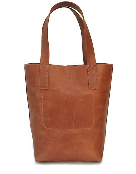 HTC Tote Bag Emblem Leather #8 / Camel