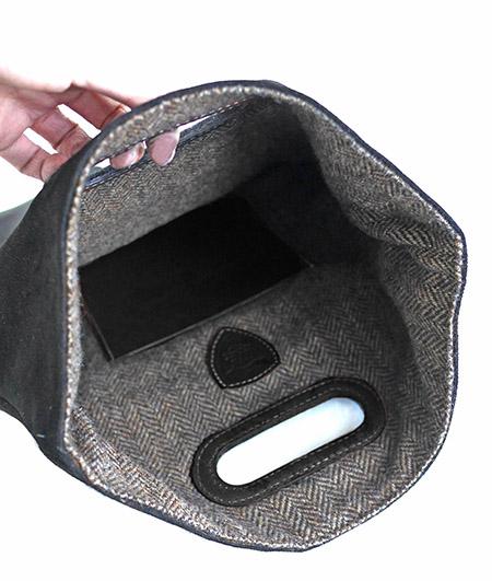 HTC Clutch Bag 2way Denim TQS B / Aging Brown