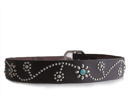 HTC Belt Flower #1 TQS N / Dk Brown