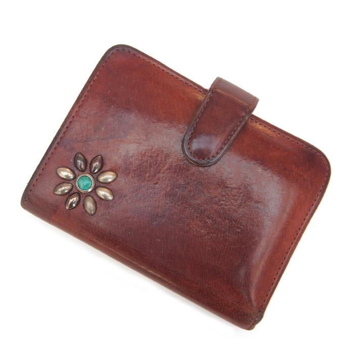 """PANTY Original Design """"OLD COACH"""" Vintage Remake Studs Leather Wallet / �"""