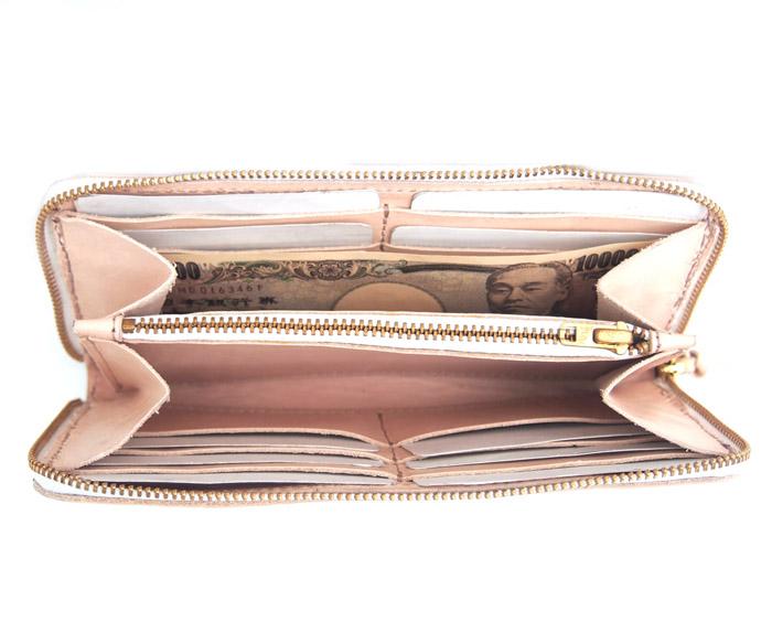 【予約受付】HTC SUNSETRound  Zipper Long Wallet Flower #3 TQS N / Natural
