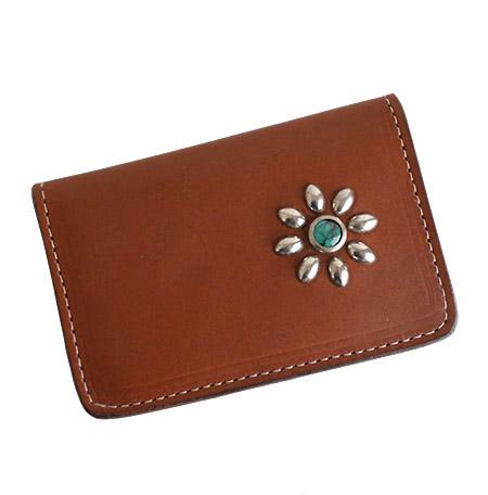 HTC SUNSET Card Case Flower TQS N / Brown