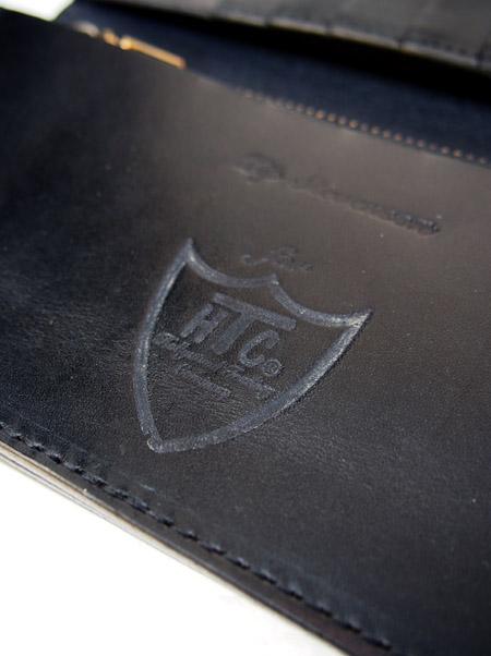 HTC Long Wallet Flower Leather #4 BLACK N / Burgundy