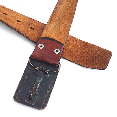 1970s Vintage Levi's Leather Buckle Belt