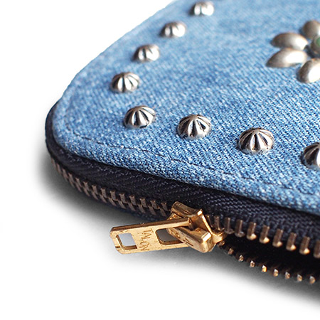 HTC L-zip Wallet  Flower Denim #1 TQS N / Denim