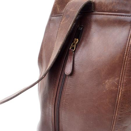 """PANTY Original Design """"OLD COACH"""" Vintage Remake Studs Leather Body Bag / No.6"""
